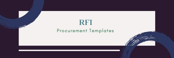 Rfi Template Procurement Templates